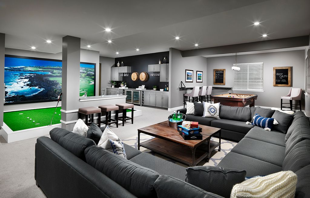 23 Most Extravagant Basement Rec Room Ideas