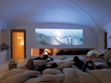 Basement Home Theater Ideas - Rec Room With Firepit Pinterest