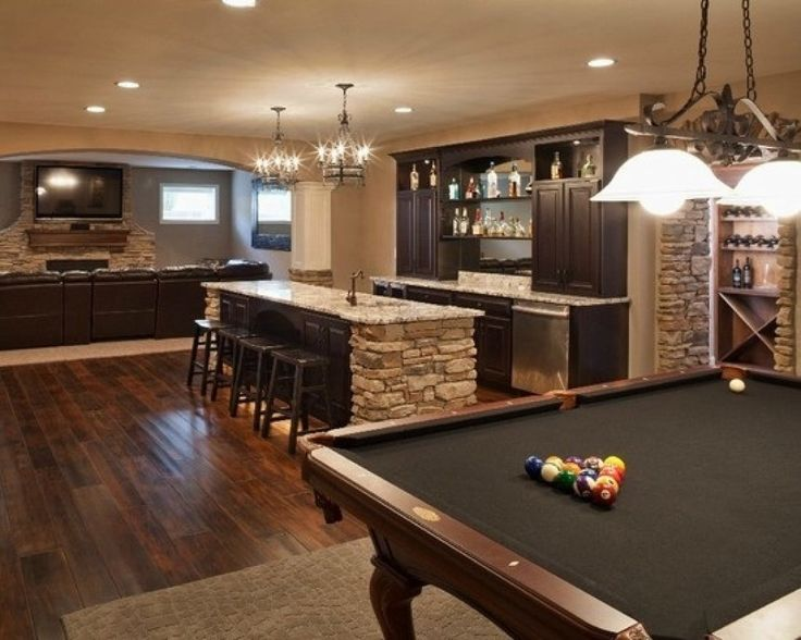 recreation room ideas 23 Most Extravagant Basement Rec Room Ideas