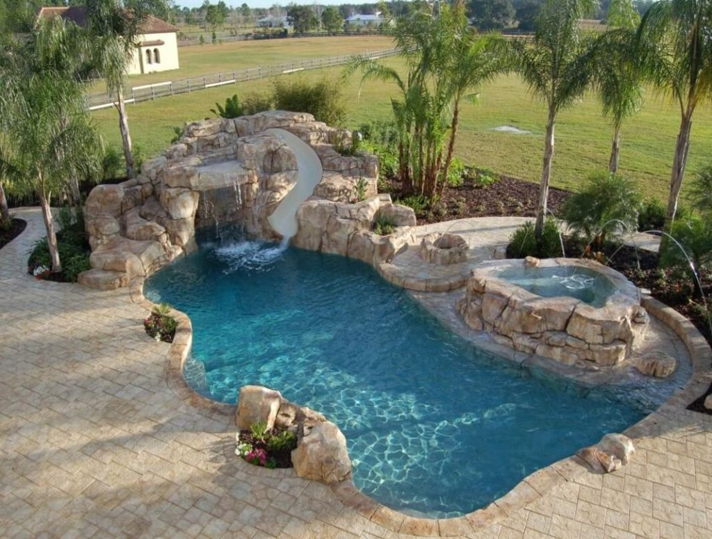 35 luxury swimming pool designs to revitalize your eyes for Rock pool designs