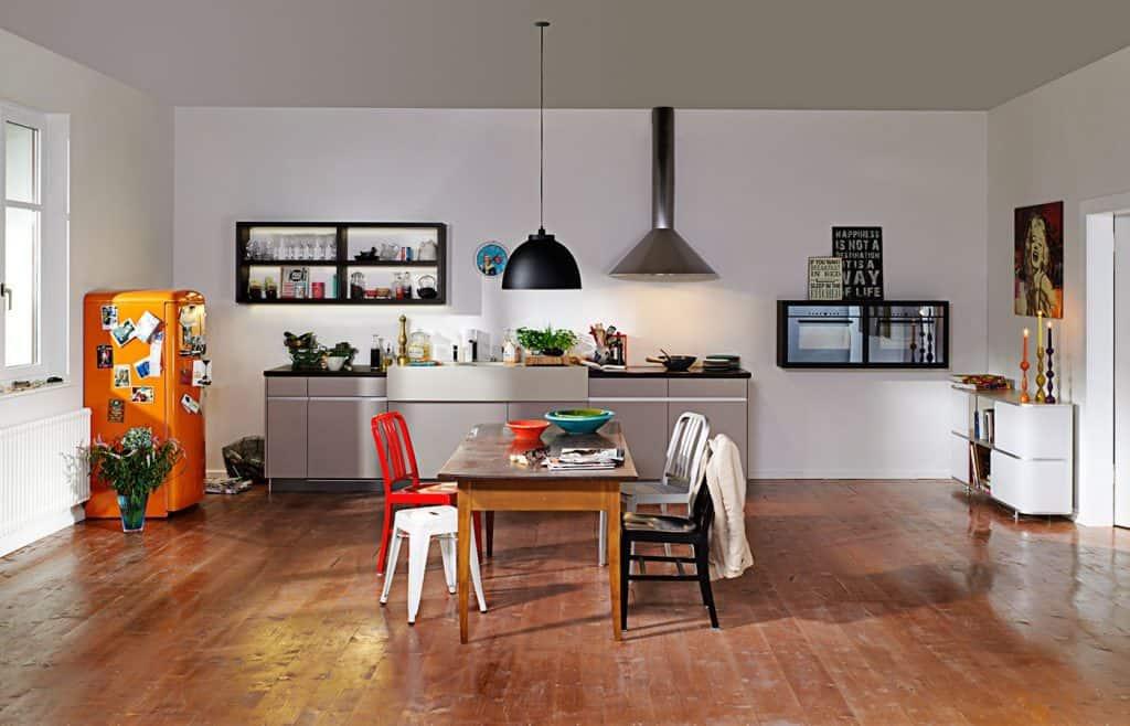 luxury one wall kitchen