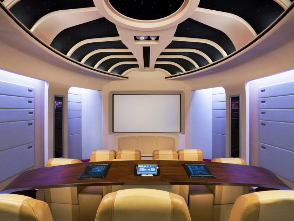 2. Sophisticated Color Home Theater