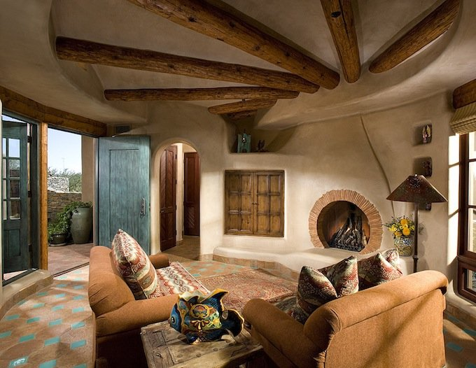 9 unique characteristics of southwestern interior design for Interior design for living room roof