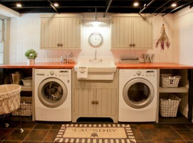 Best Flooring For Laundry Room - Traditional Basement Laundry Room Ideas