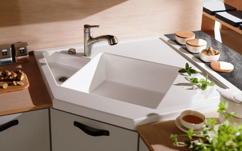 21 Corner Kitchen Sink Design Ideas for Your Sweet Home