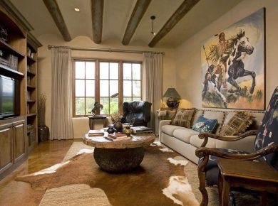 Southwestern Interior Design - Wall Accent Impressiveinteriordesign