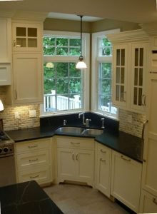 white Corner Kitchen Sink Ideas image