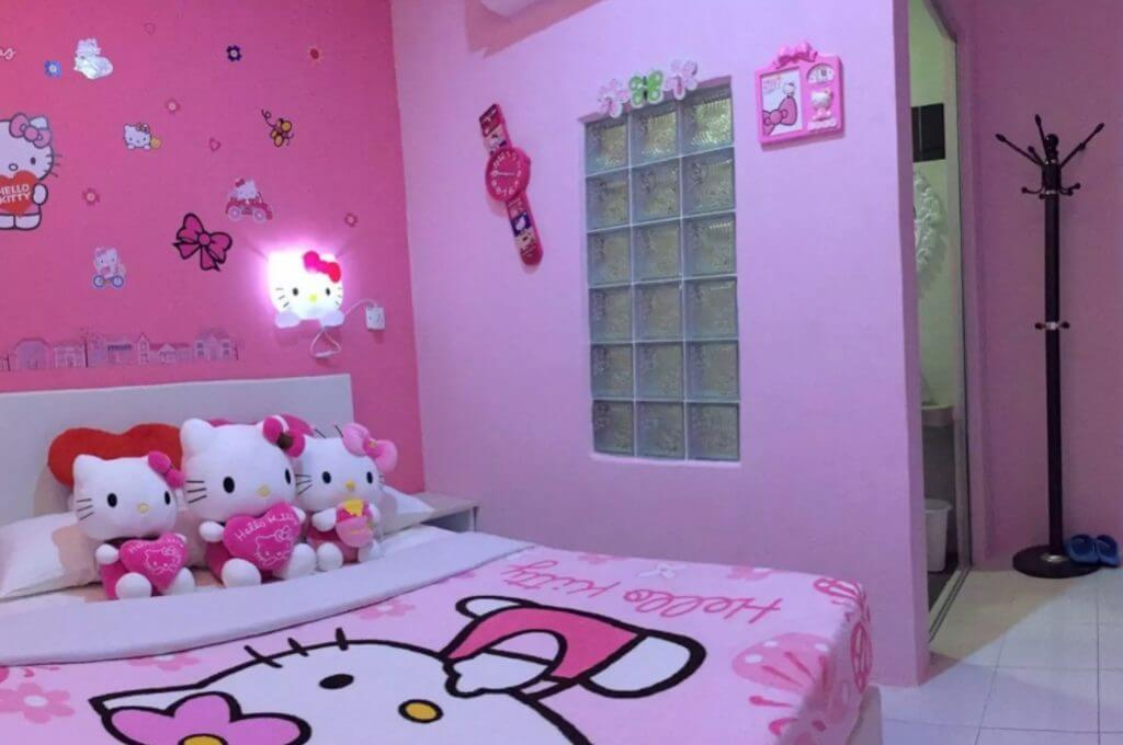 25 adorable hello kitty bedroom decoration ideas for girls - Deco chambre hello kitty ...