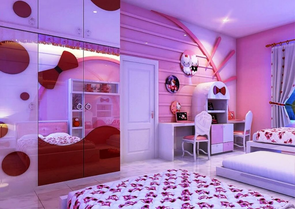40 Adorable Hello Kitty Bedroom Decoration Ideas For Girls Stunning Pictures Of Bedroom Decorations