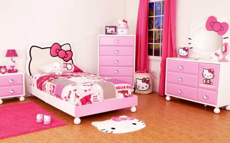 25 Most Adorable Hello Kitty Bedroom Decoration Ideas for Girls