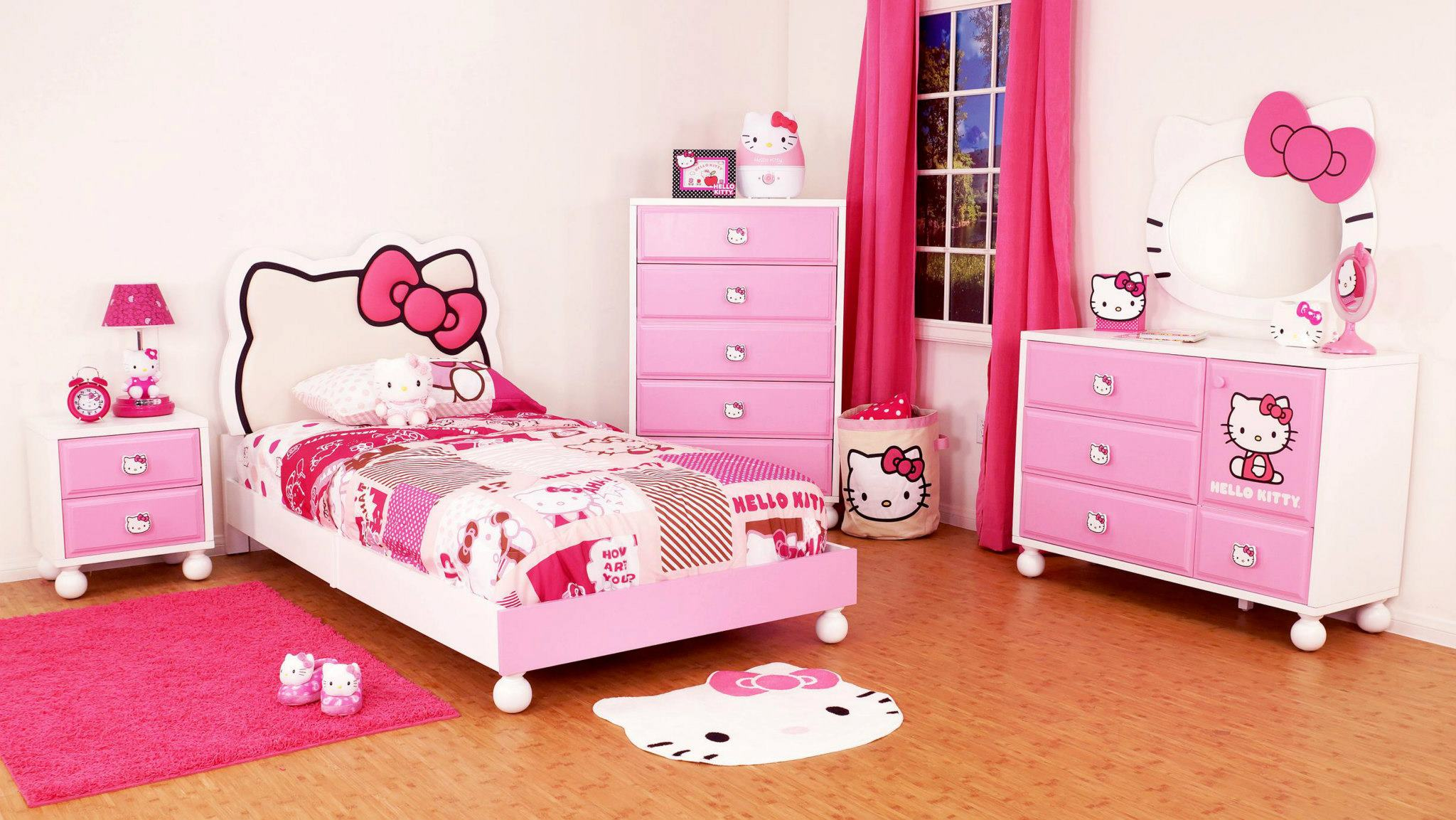 Pink hello kitty bedsheet - 25 Most Adorable Hello Kitty Bedroom Decoration Ideas
