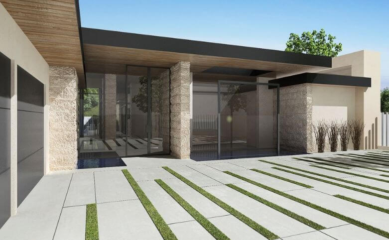 Superior Minimalist Modern Driveway. Contemporary Block Paving