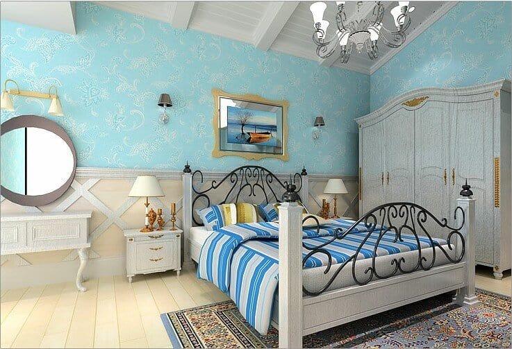 dark turquoise bedroom