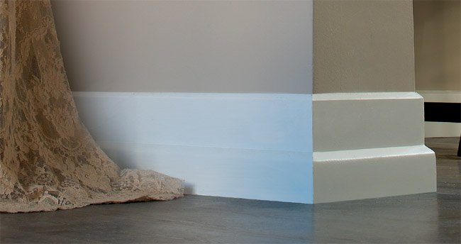 Sculpted Mid Height Baseboard Trim