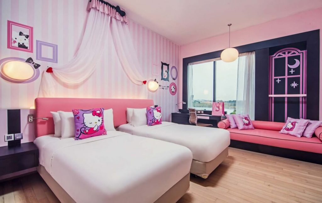 hello kitty bedroom set full. 25 Adorable Hello Kitty Bedroom Decoration Ideas for Girls