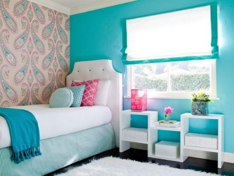 Superbe Turquoise And White Bedroom Ideas