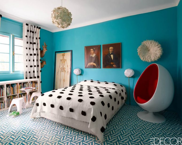 modern turquoise bedroom ideas