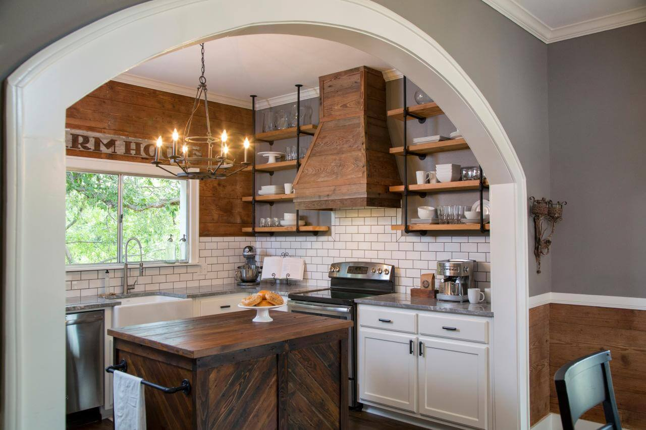Open Kitchen Shelving Ideas - Curved Ceiling Spanish Kitchen Style Hgtv