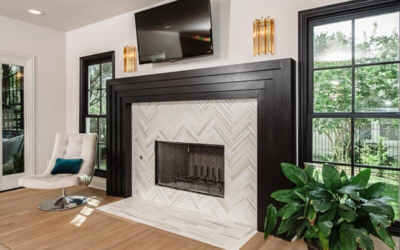 19 Most Stunning Fireplace Tile and Surround Ideas