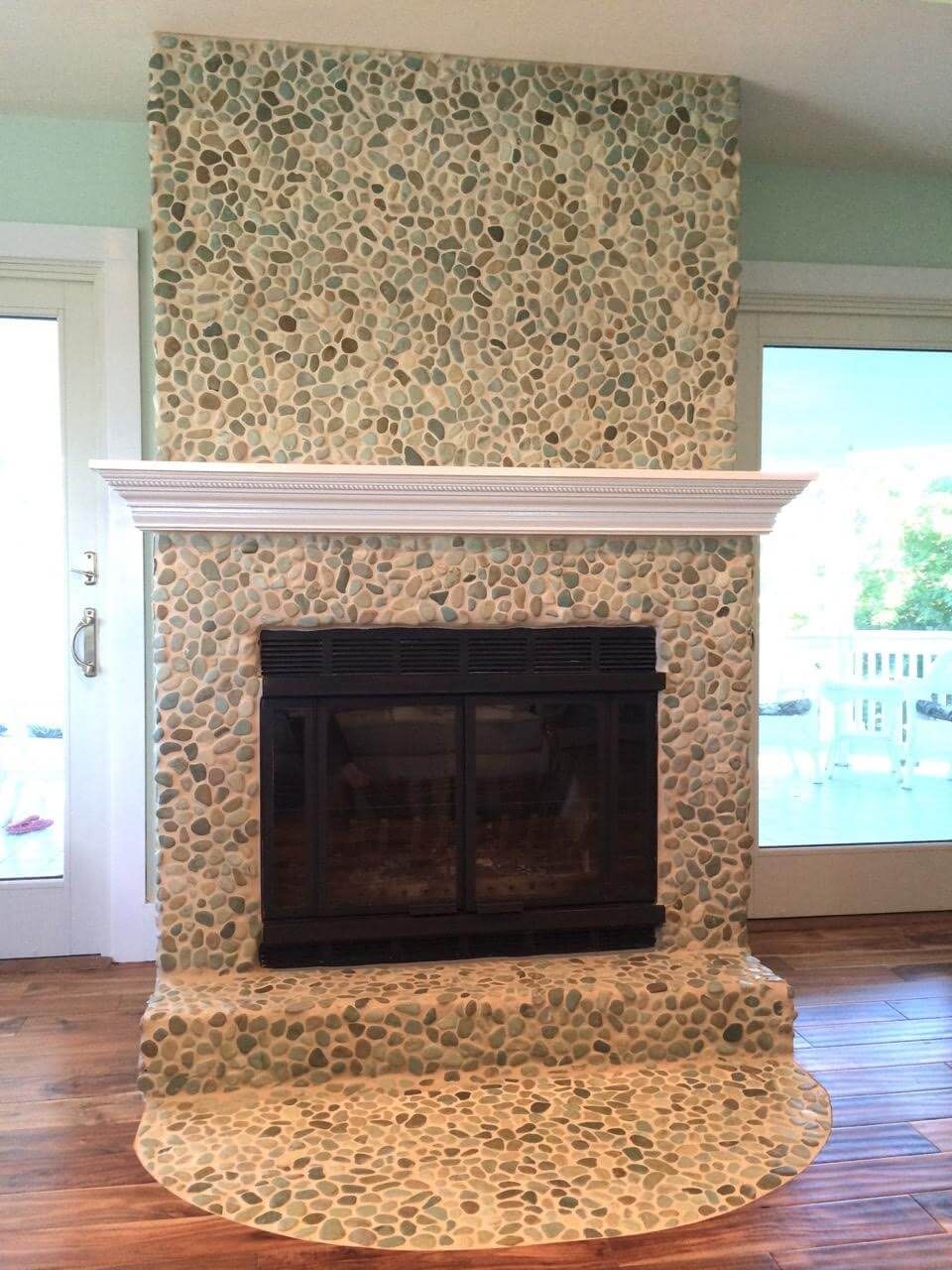 19 stylish fireplace tile ideas for your fireplace surround - Stone fireplace surround ideas ...