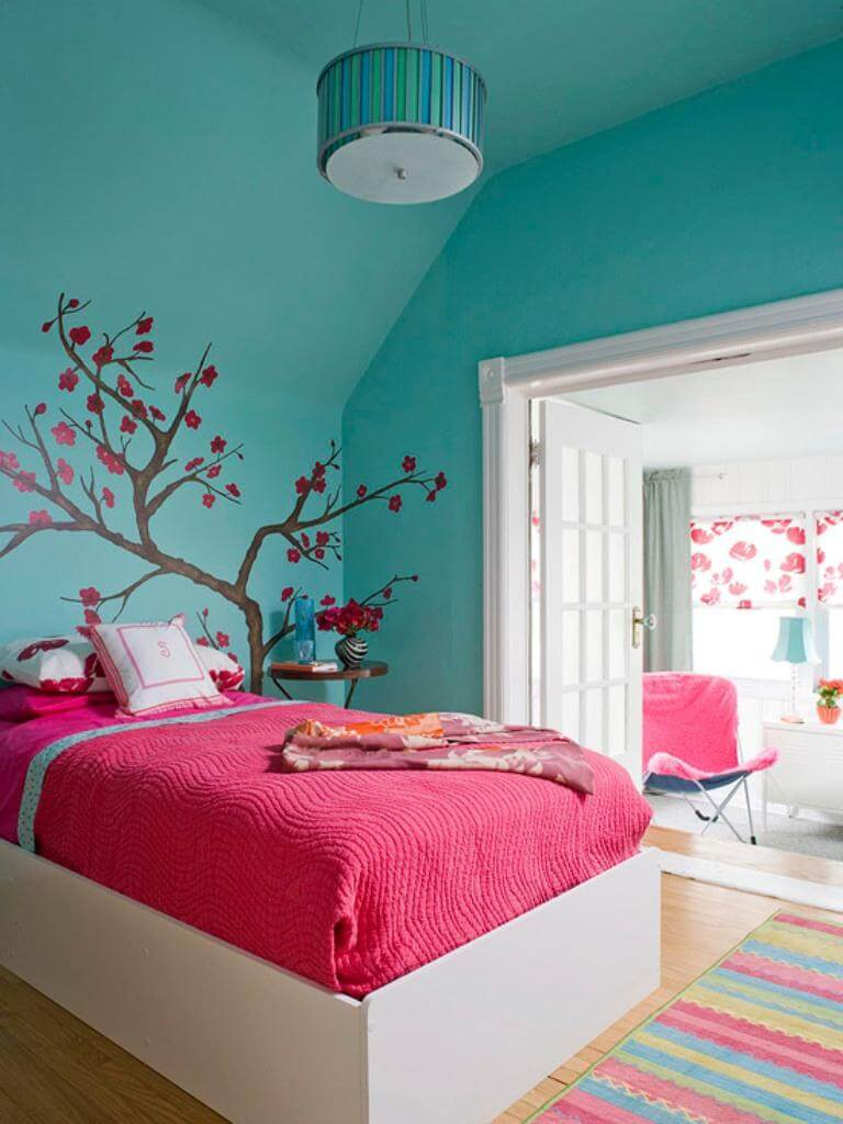 Turquoise And Pink Bedroom Ideas Accessories