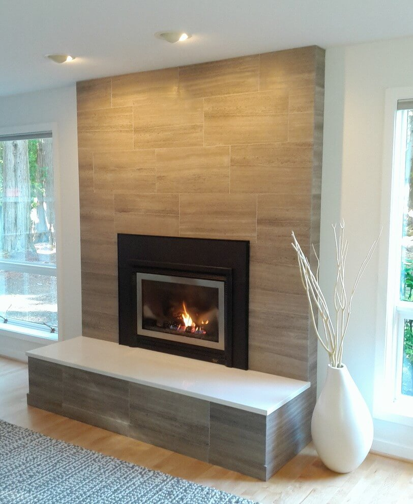 19 stylish fireplace tile ideas for your fireplace surround - How to make a brick fireplace look modern ...