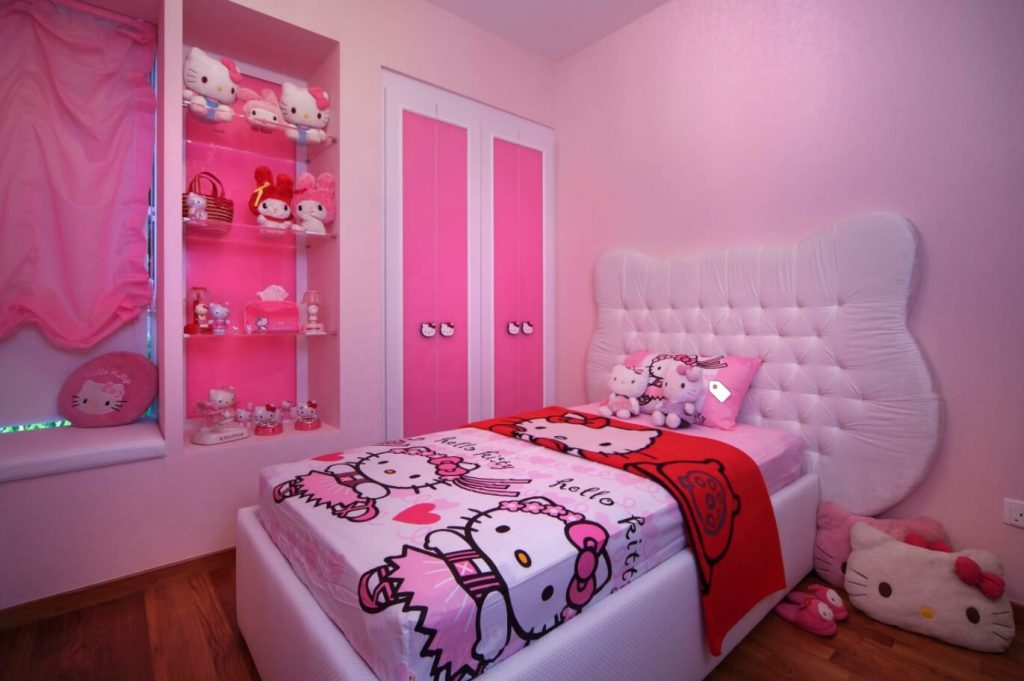 Single Bed Hello Kitty Bedroom Part 35