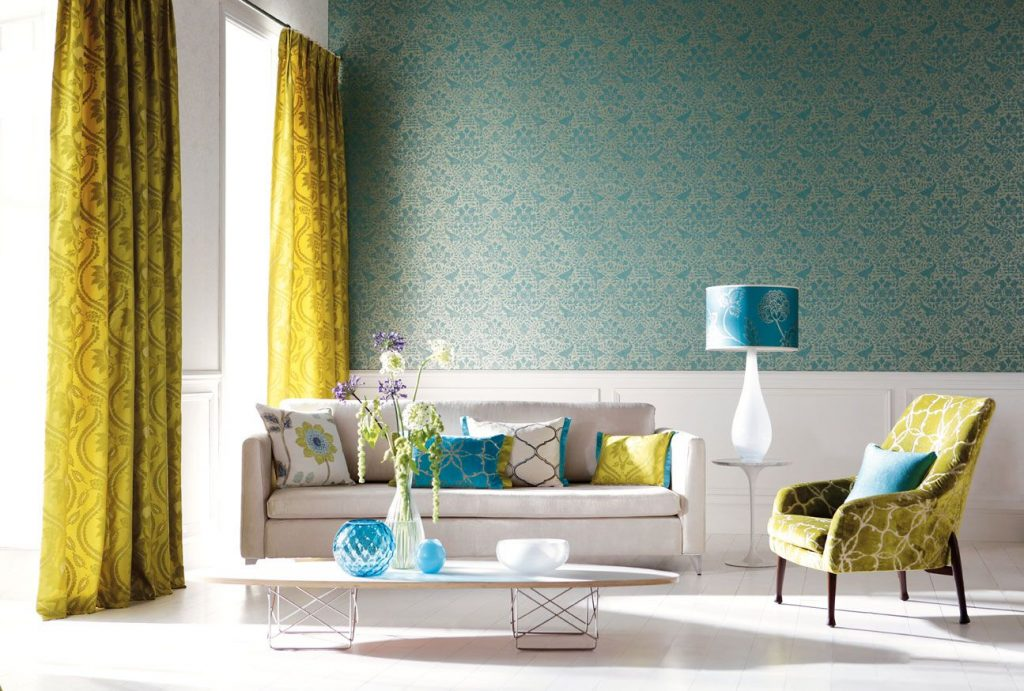 Symmetric Turquoise Room Ideas