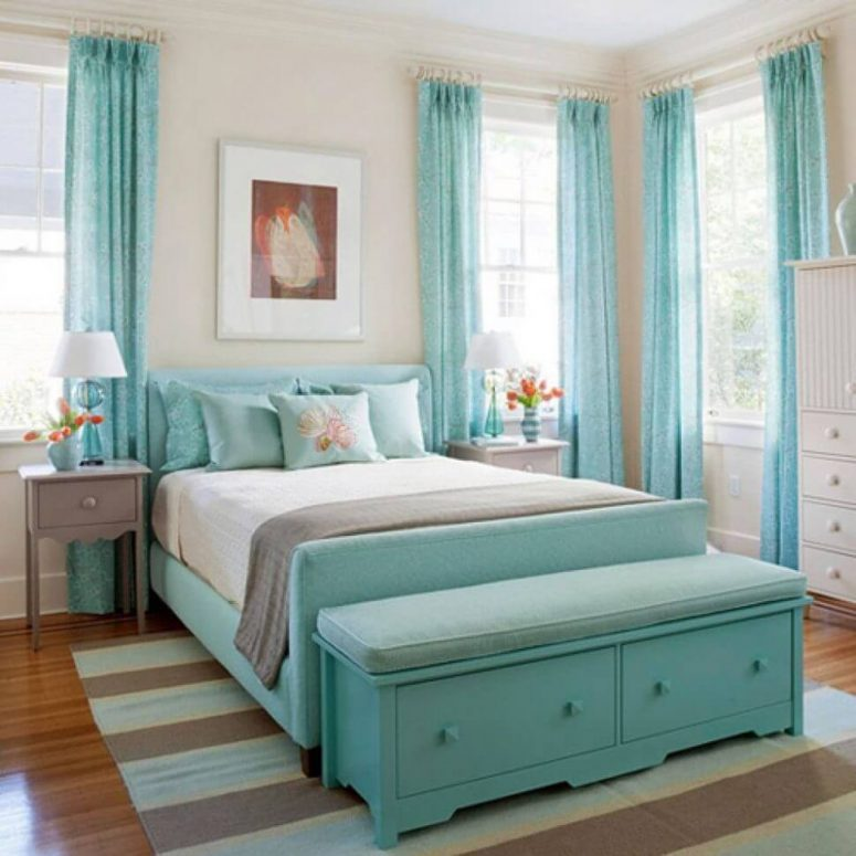 Aqua And Pink Bedroom Ideas