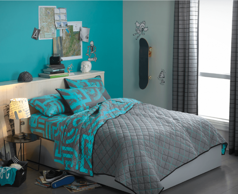 turquoise bedroom accessories