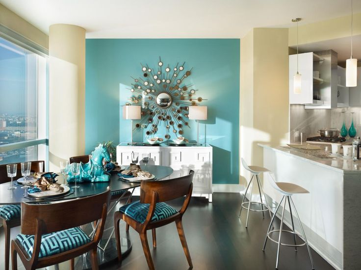 Delightful Turquoise Bedroom Walls