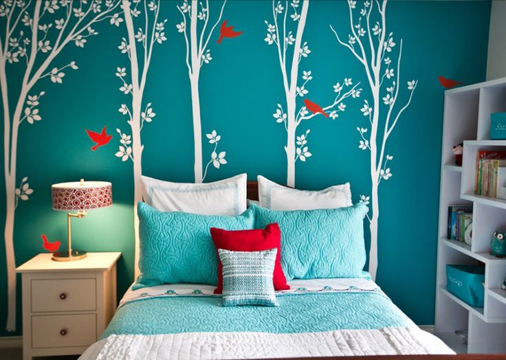 Aqua And Red Bedroom Ideas Amazing Decorating