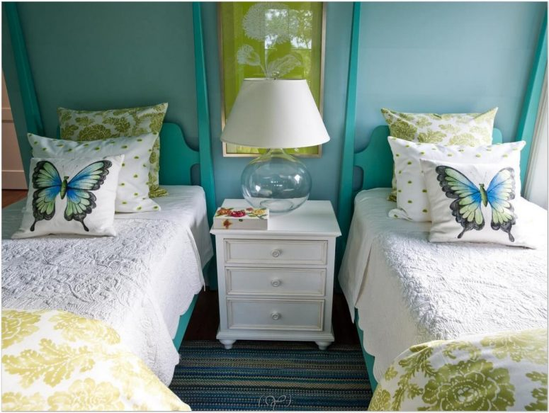 turquoise and white bedroom ideas