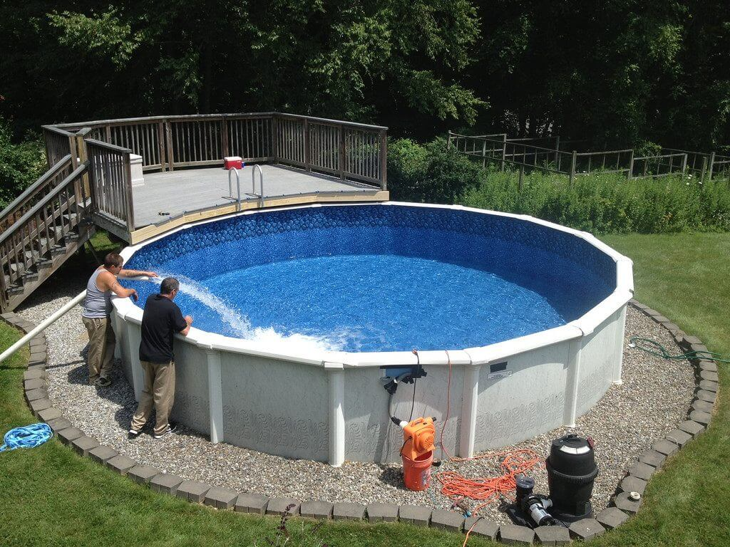 Above Ground Pool With Deck Installation