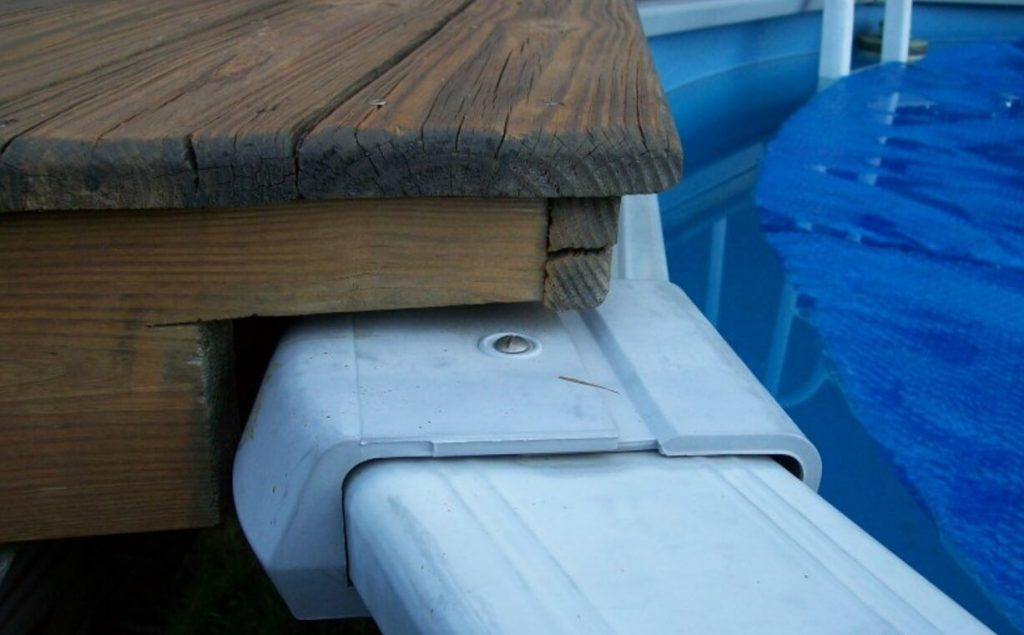 Above Ground Pool With Deck Ideas - Gap Between Pool And Deck Pinterest