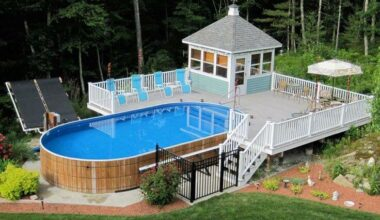 luxury big deck for above ground pool