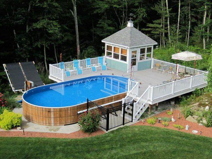 Above ground pool with deck benefits cost and ideas for Club piscine above ground pools prices
