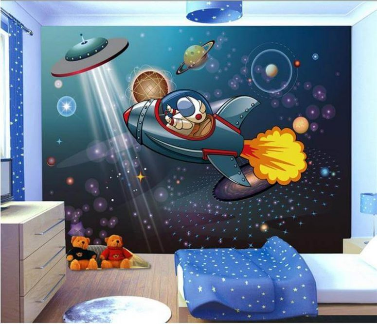 Boy Bedroom Paint Bedroom Canvas Wall Art Girls Bedroom Decor Ideas Modern Kids Bedroom Ceiling Designs: 50+ Space Themed Bedroom Ideas For Kids And Adults