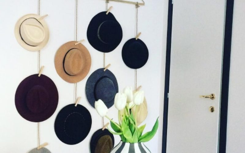 19 DIY Hat Rack Ideas for Your Next Home Project