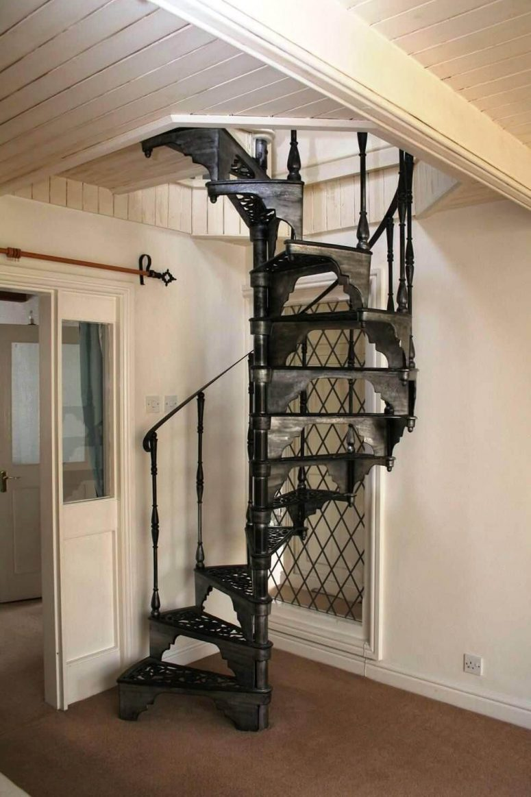 50 uniquely awesome spiral staircase ideas for your home for Spiral staircase plan