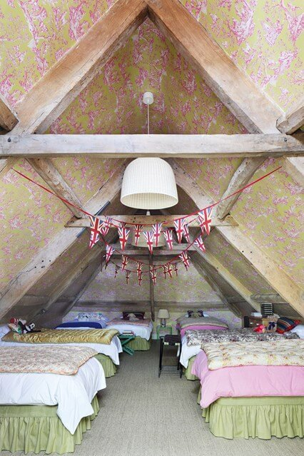 small attic bedroom sloping ceilings