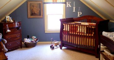 attic nursery room