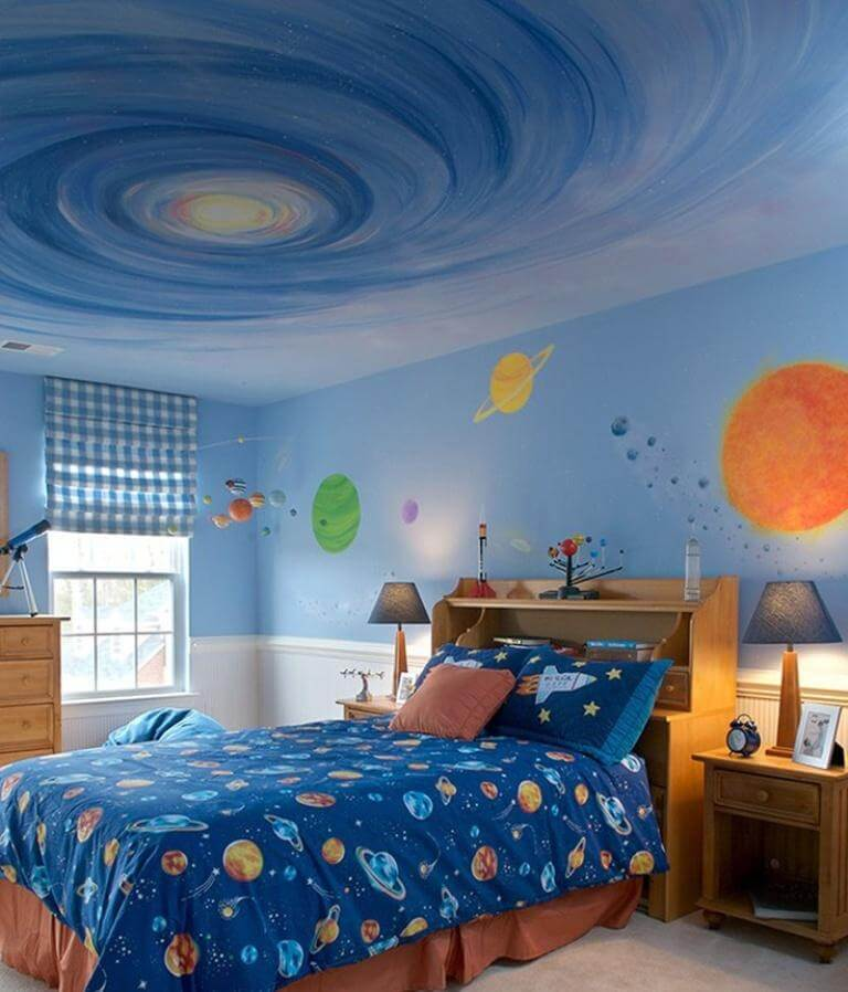 space themed bedroom for adults