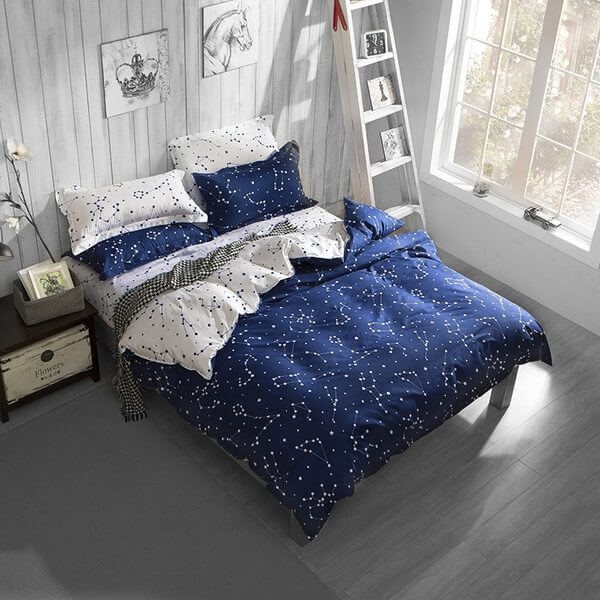 Space Themed Constellation Bed Set  solar system bedroom decor. 50  Space Themed Bedroom Ideas for Kids and Adults