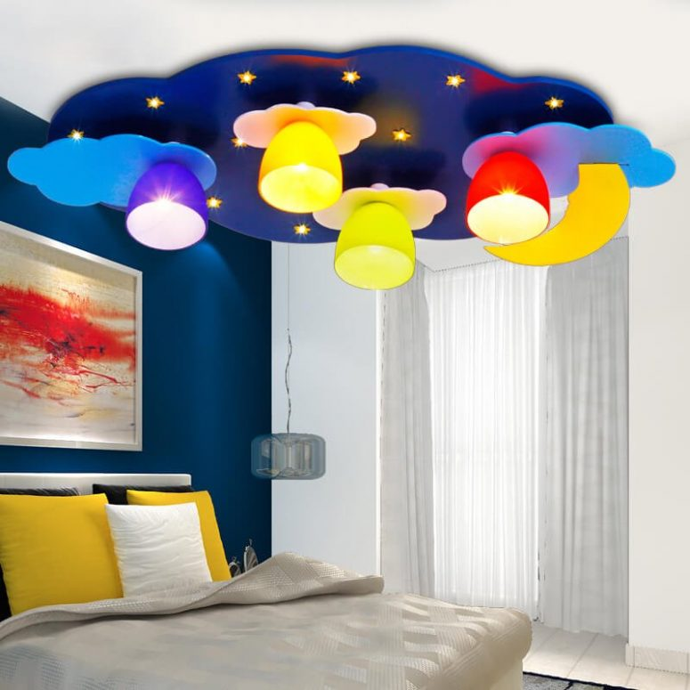 Delightful Upgrades 25 Creative Bedside Lighting Ideas: 50+ Space Themed Bedroom Ideas For Kids And Adults