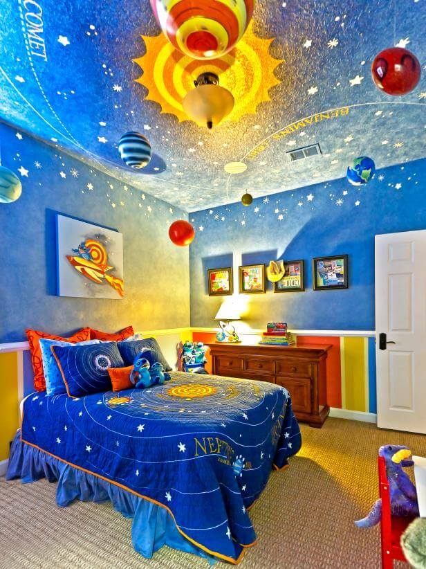 Bon Space Themed Bedroom Decor