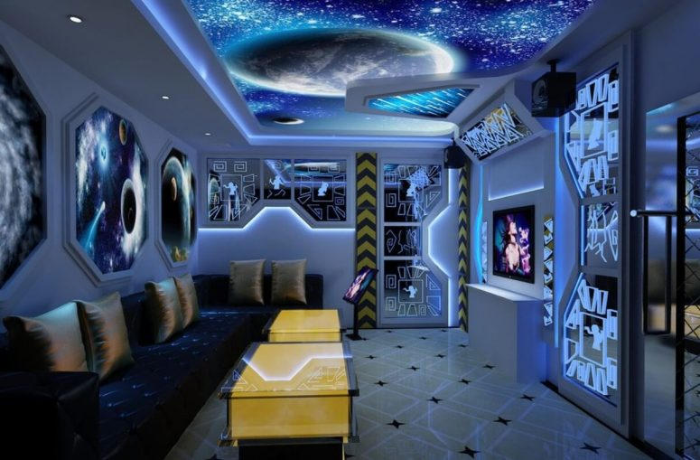 Sci Fi Themed Living Room