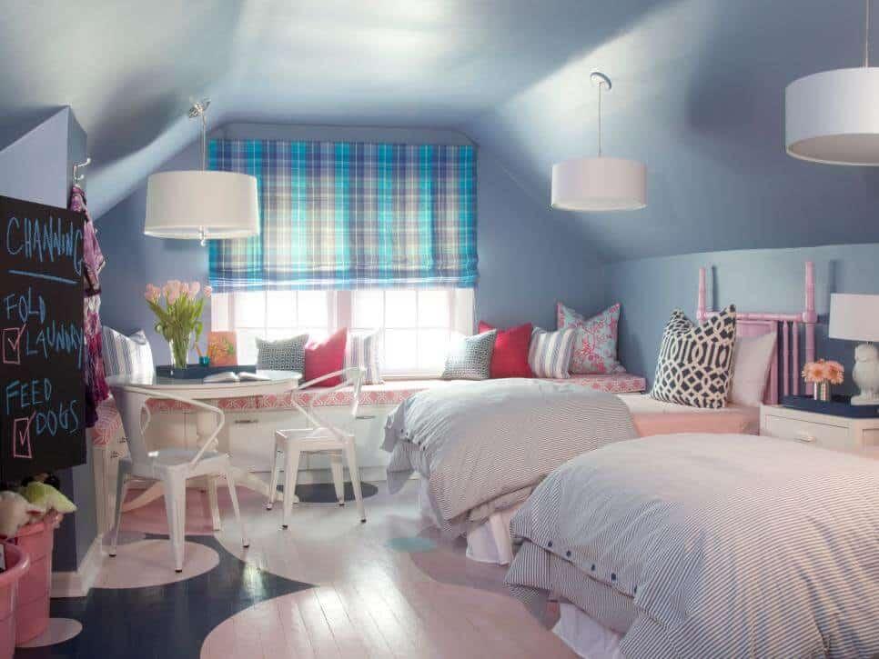 Attic Bedroom Ideas - Kids Bedroom On Attic Room