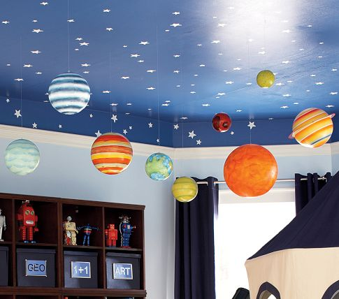 space themed room for toddler