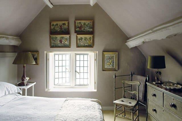 Attic Bedroom Ideas - Rustic Attic Room With Wall Work